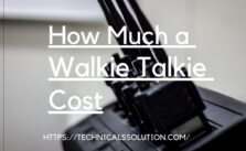 How much a walkie talkie cost